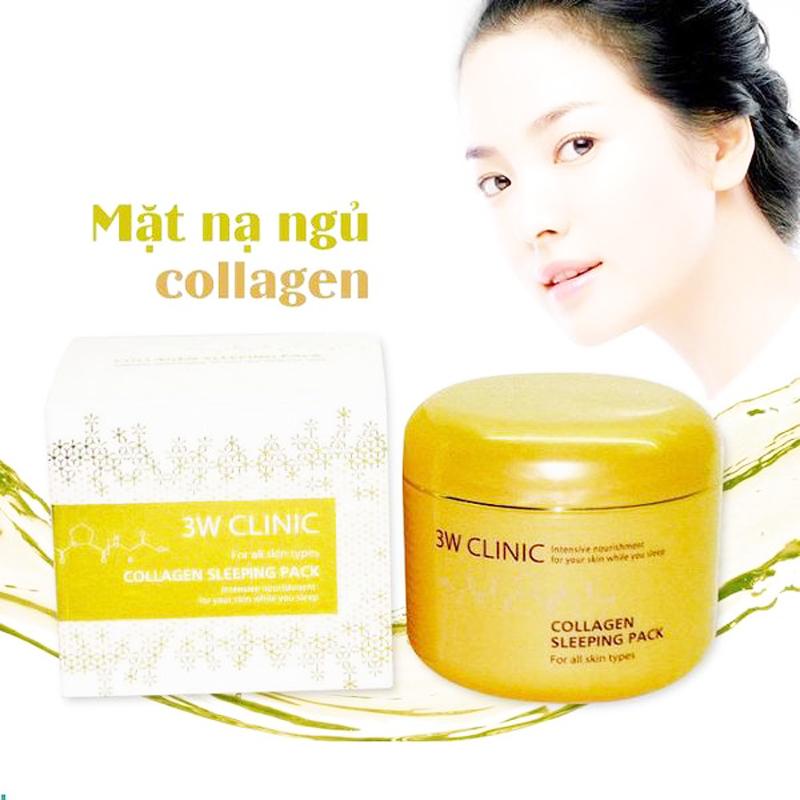 Mặt Nạ Dưỡng Mặt 3W Clinic Collagen Sleeping Pack Hàn Quốc