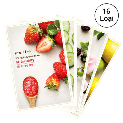 Mặt Nạ Dâu Tây - Innisfree It's Real Squeeze Mask Strawberry