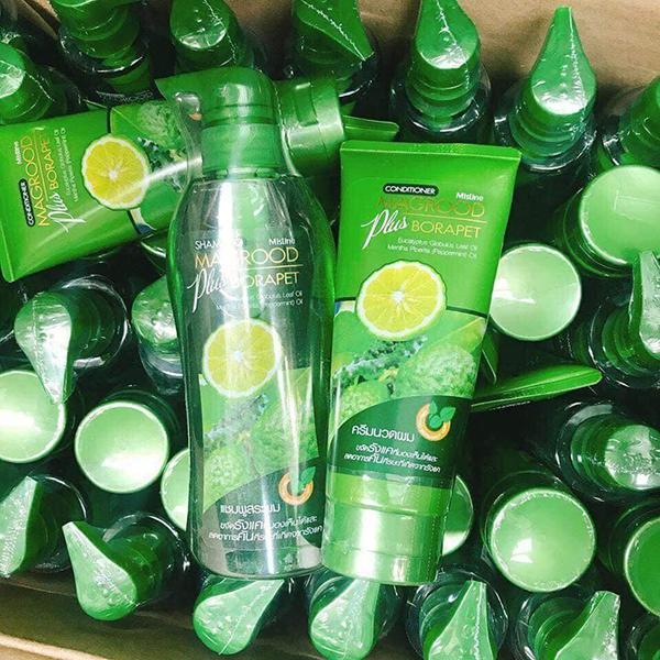 Bộ Dầu Gội Và Xả Chanh Trị Gàu Magrood Plus Borapet Shampoo THAI LAN