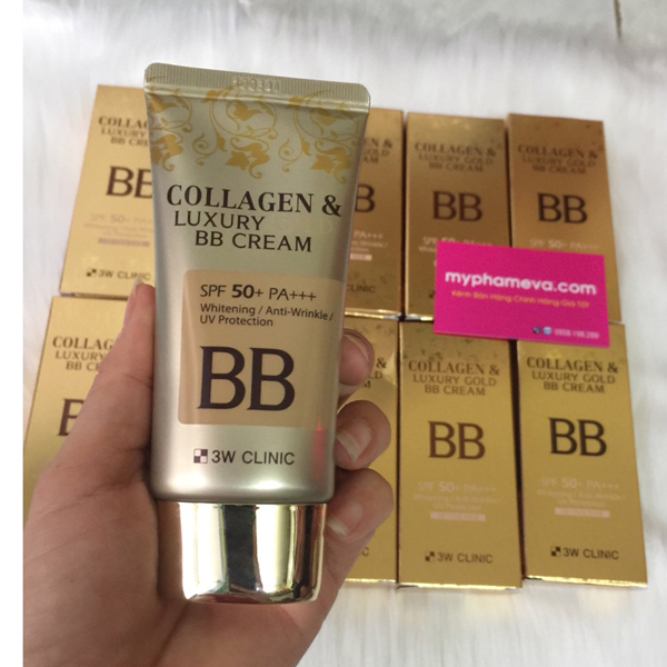 Kem Nền Collagen & Luxury Gold BB Cream 3w Clinic Hàn Quốc
