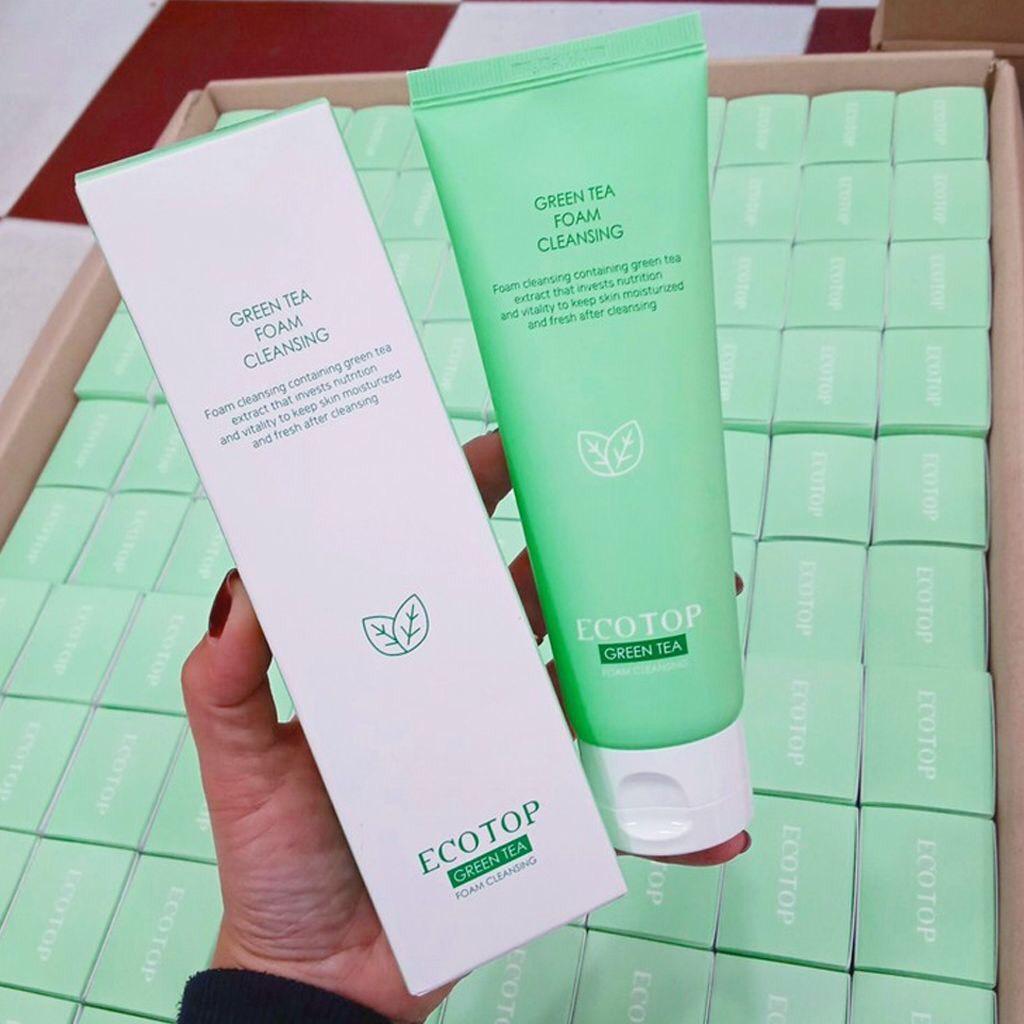 Sữa Rửa Mặt Trà Xanh Ecotop Green Tea Foam Cleasing