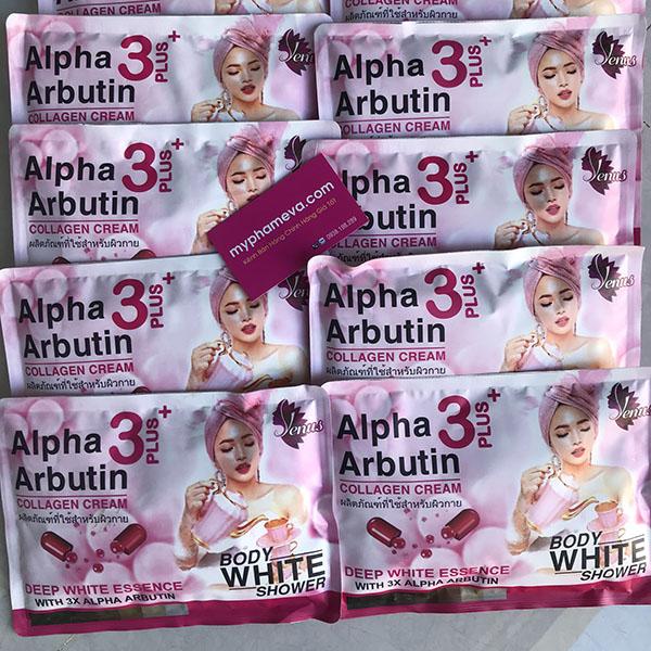 Tắm Ủ Trắng Body Alpha Arbutin White Shower Thái Lan